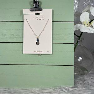 LC Lauren Conrad Silver Chain Pineapple Necklace